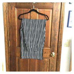 Black & white striped pants - palazzo style. EUC .